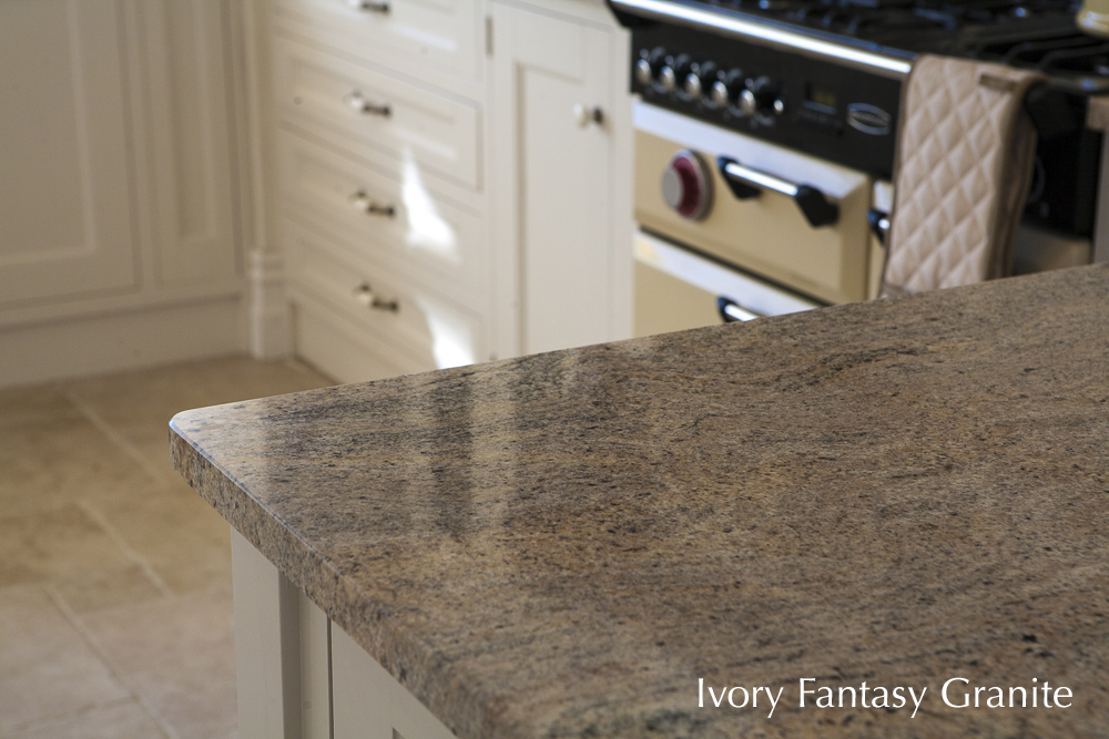 granite counter top, kitchen, ivory fantasy