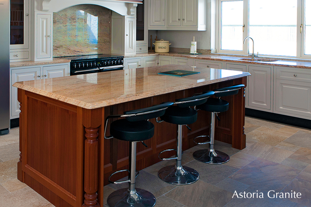 Astora granite kitchen counter tops, splashback, island, Carlow, Dublin, Stoneworld.ie
