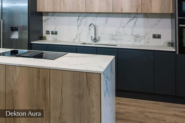 Dekton Aura kitchen island