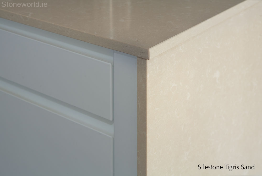 Silestone kitchen counter tops, gable, butt joint, Ireland, Dublin, Carlow,