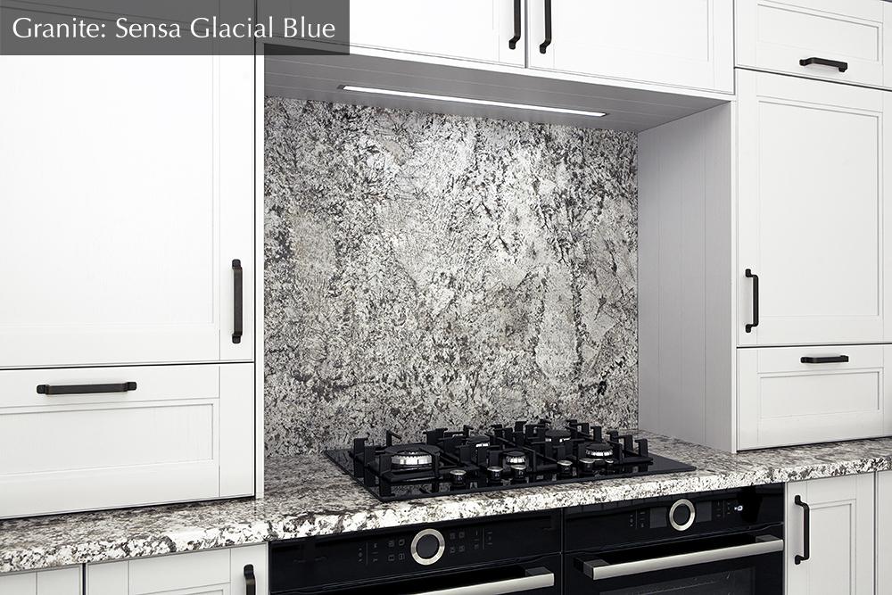 granite worktop, sensa glacial blue, Ireland, dublin,
