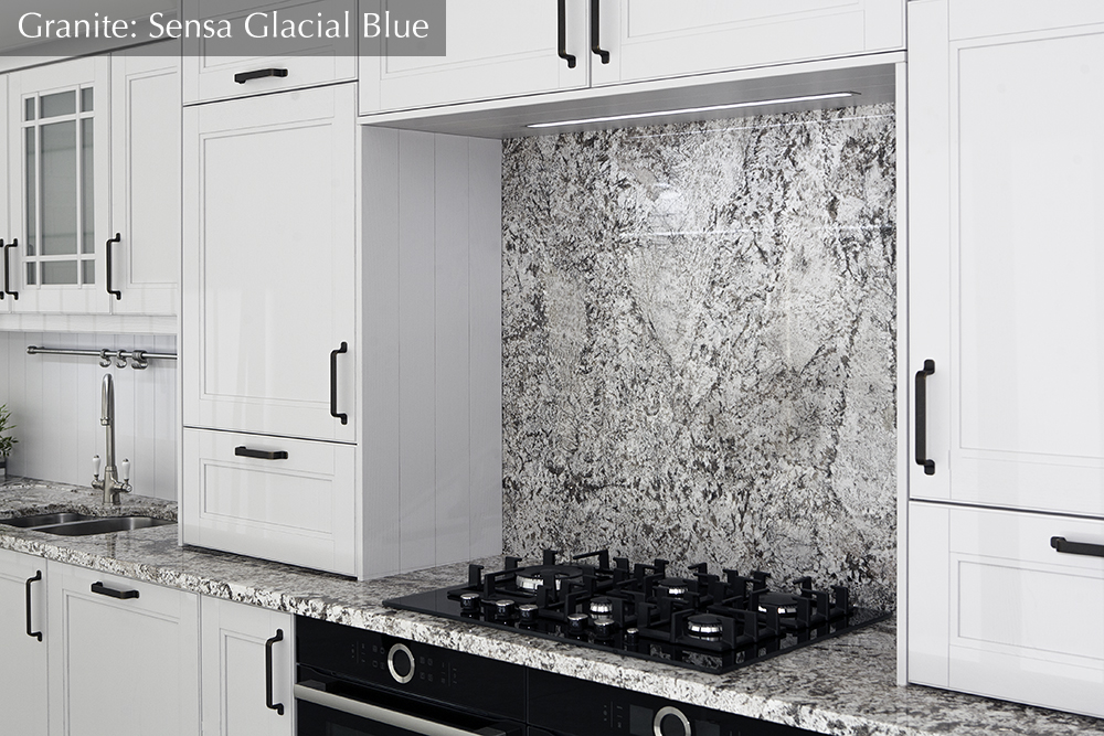 granite worktop, sensa glacial blue, Ireland, dublin,