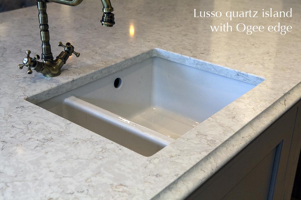 Lusso quartz kitchen island, Carlow, Dublin,