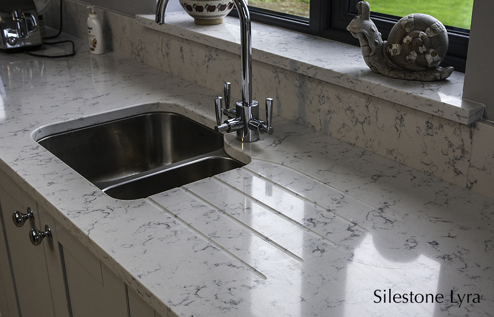 lyra silestone, kitchen counter tops, splashback, carlow, dublin,