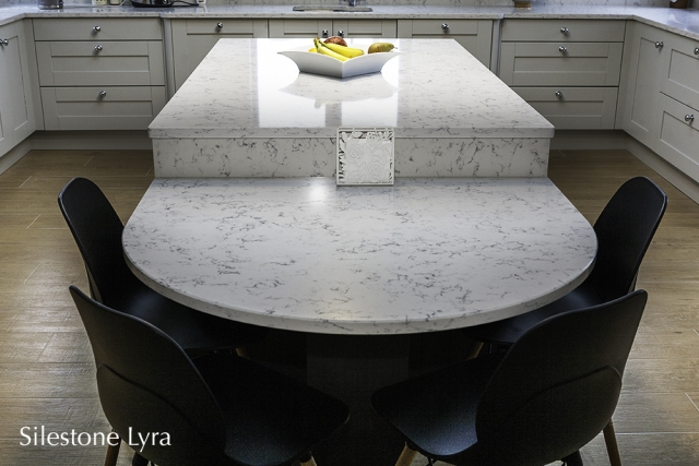 lyra silestone, kitchen counter tops, island, carlow, dublin