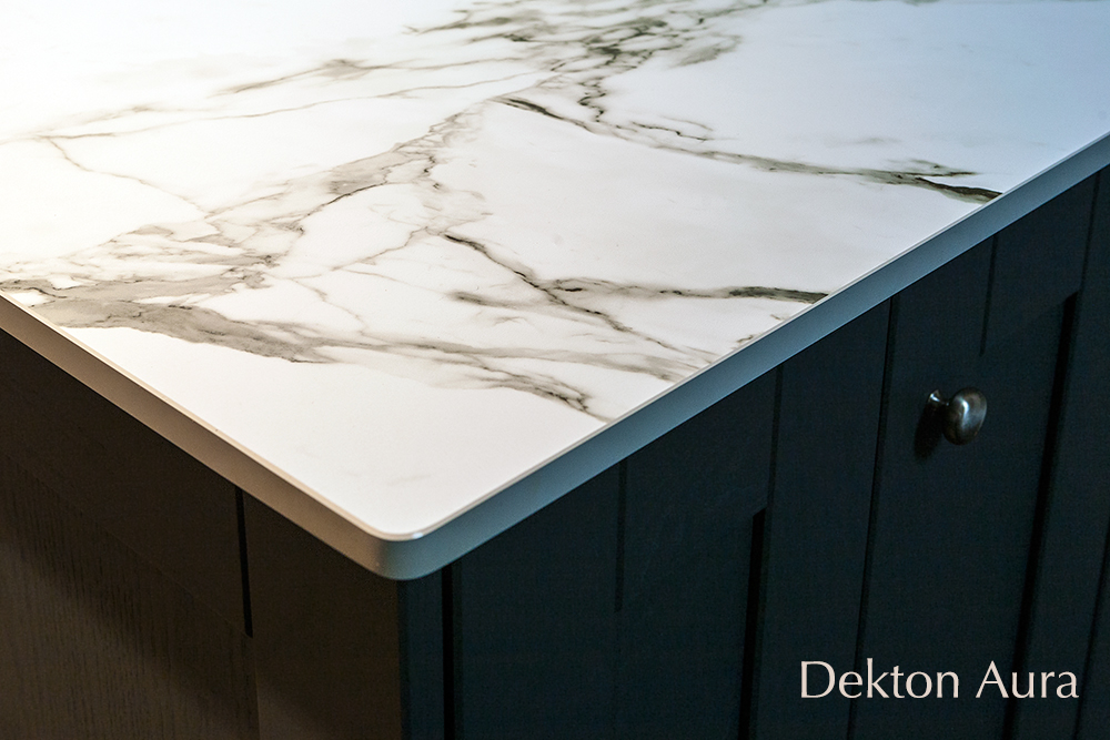 Dekton Aura kitchen island counter top, Ireland